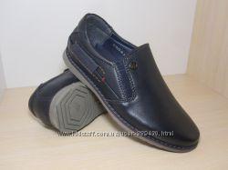 Туфли школьные на мальчика синие Paliament арт. В1822-В р. 32-37 туфлі сині