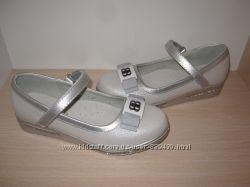 Туфли нарядные на девочку серебро W. niko арт. NC791-3 р. 32-37 туфлі срібл