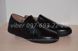 Туфли школьные кожаные классические арт. С1672-2 Kangfu р. 31-36 шкіряні
