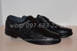 Туфли школьные кожаные классические арт. С-773 Kangfu р. 36-41 шкіряні
