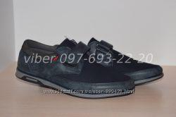 Туфли школьные на мальчика синие под джинс Tom. m арт. 5704-С р. 33-38 туфлі