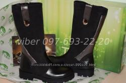 Зимние кожаные сапоги ботинки для девочки Tobi арт. 0161 р. 33-36 шкіряні