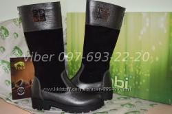 Зимние кожаные сапоги ботинки для девочки Tobi арт. 052-04 р. 32-37 шкіряні