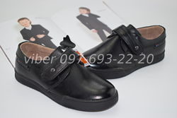 Туфли школьные кожаные классические арт. С-1695 Kangfu р.28-32 шкіряні