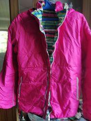 Двухсторонняя куртка пуховик Reima розового цвета оригинал