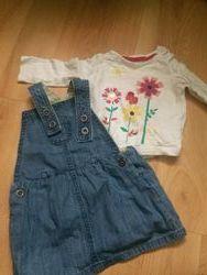 Подарок  Красивые наряды на малышку платье комбинезон песочники