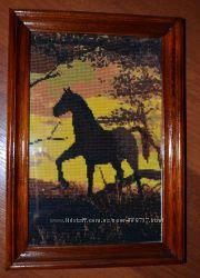 Продам картину ручной работы Пламенный закат