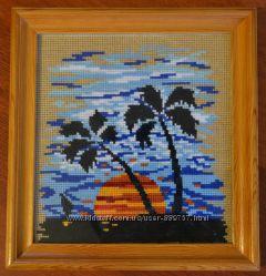 Продам картину ручной работы Пальмы на закате