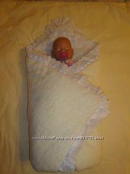 Одеяло и костюм для выписки из роддома, набор для выписки из роддома