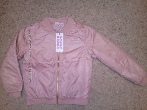 Демисезонная куртка Sugar Squad 6-8 лет, Новая, цвет пудра