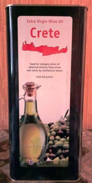Оливковое масло Crete Extra Virgin Греция 5л жб высший сорт Акция