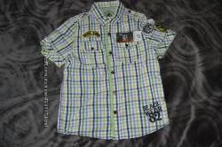новая модная брендовая рубашка мальчику Matalan на 5 лет