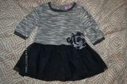 новое платье девочке 6-9 мес F&F Англия рост 68-74 см