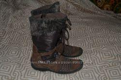 зимние термо ботинки Elefanten tex 20. 5-21 см стелька Германия отл сост кож