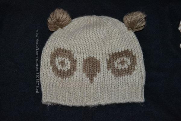 шапка девочке панда Matalan 7-10 лет Англия в идеале