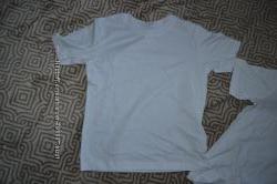 белые футболки Back to school на 6 лет рост 116 хлопок Англия