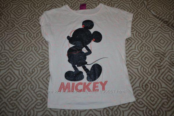 футболка девочке Disney 6-7 лет рост 116-122 Хлопок Англия