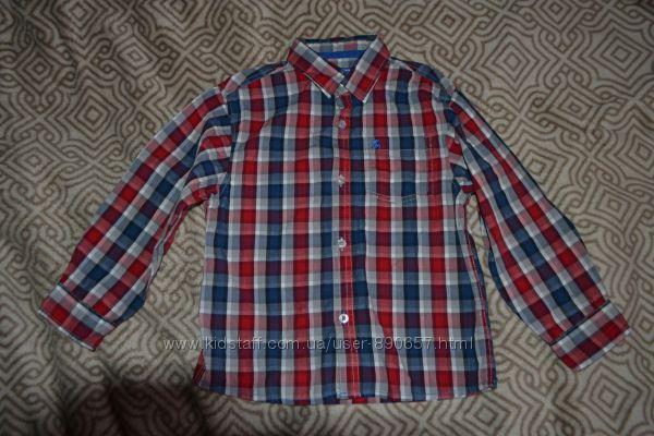 рубашка мальчику Rebel на 7 лет рост 122 Англия