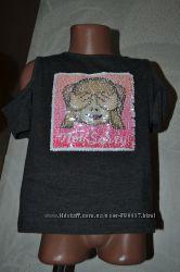 футболка с пайетками перевёртышами Primark на 8-9 лет рост 128-134
