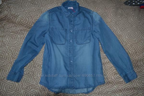 джинсовая рубашка девочке Kylie на 12 лет рост 152 Англия