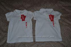 белая футболка поло девочке Gymboree на 5 лет рост 110 США