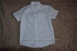 Новая белая рубашка F&F 8-9 лет рост 134 Англия
