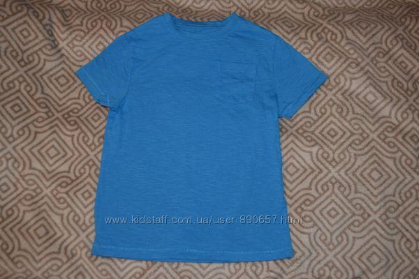 новая синяя футболка M&S на 7 лет рост 122 Англия