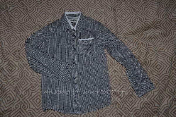 новая рубашка Matalan на 7 лет рост 122 Англия
