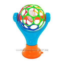 развивающая игрушка погремушка мяч Oball на присоске