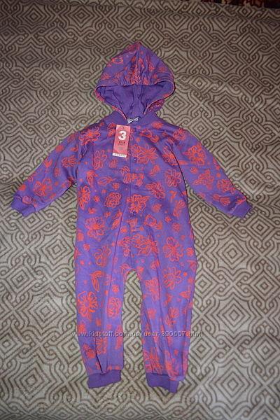 новая пижама комбинезон 2-3 года рост 98 Англия