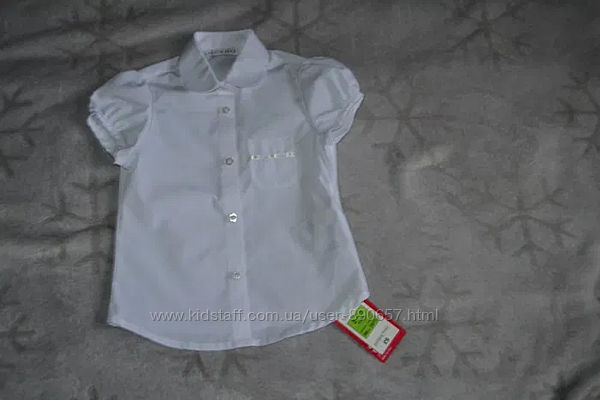 Новая белая блузка George на 3 года рост 98 Англия