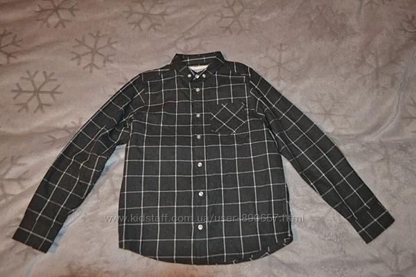 Рубашка байковая Dudes Matalan 10 лет рост 140 Англия