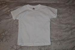 Новая белая футболка Hanes 13 лет рост 158 и 6 лет 116 на 4 года 104