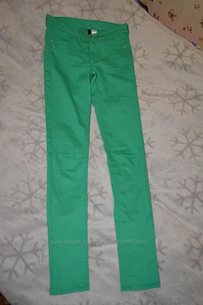 скинни джинсы H&M размер S-36 Англия