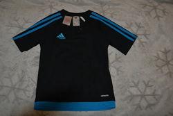 Футбольная термо футболка Adidas 7-8 лет рост 122-128 оригинал
