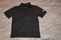Термо футболка поло Adidas climalite 10 лет рост 140 оригинал