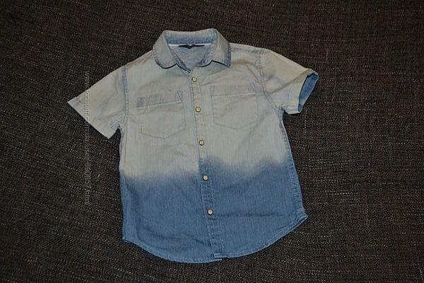 Джинсовая рубашка Primark 3-4 года рост 104