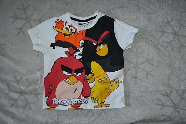 футболка Primark rebel angry birds 24 мес рост 92 сост новой Англия