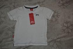 новая белая футболка поло Slazenger на 3 года рост 98