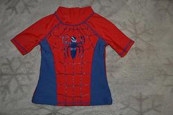 Солнцезащитная футболка spiderman 1-2 года рост 86-92