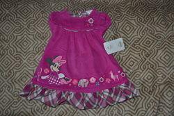 новое велюровое платье Disney 6-9 мес рост 74 США