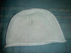 шапка H&M хлопок бежевая