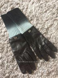 перчатки жен. кожаные