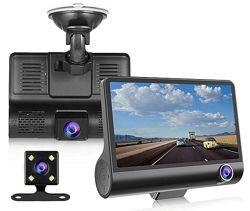 Регистратор 3 камеры автомобильный Видеорегистратор