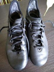 Бутсы Adidas, черные , размер 35-36