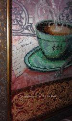 Картина з бісеру кава в Парижі