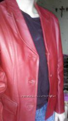 Кожаный пиджак р L