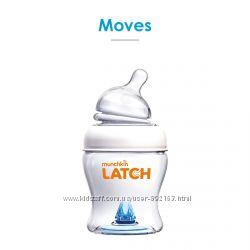 Бутылочка Munchkin Latch пластиковая, 120мл, соска силикон, 0m