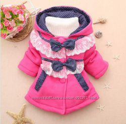 Очень красивое пальто для девочки  осень - весна