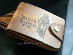 Мужской кошелек портмоне Bailini коричневого цвета на кнопке